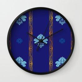 Chic Classique Art Deco Mediterranean blue Wall Clock