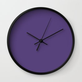 Cyber Grape - solid color Wall Clock