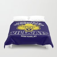 tenenbaums Duvet Covers featuring Obsolete Vernacular Wildcats (Royal Tenenbaums) by Tabner's