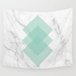 Marble Scandinavian Design Geometric Squares Wall Tapestry