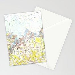 Keyport, Union Beach & Keansburg NJ Map (1954) Stationery Cards