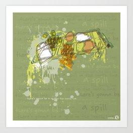 LUNCH LINE Art Print