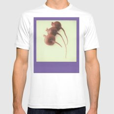 Purple Beets MEDIUM White Mens Fitted Tee