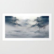 Winter of the Wolves Art Print