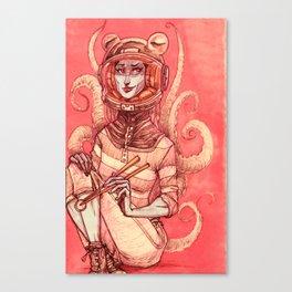 PULPO ASTROGIRL V01 Canvas Print