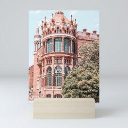 Santa Creu Hospital Barcelona, Sant Pau Landmark Art Print, Barcelona Urban Landmark Modernist Architecture Mini Art Print
