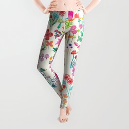 The Odd Floral Garden I Leggings