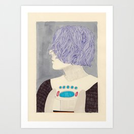 Wet Hair Art Print