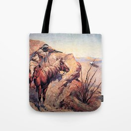 "Frederic Remington Western Art ""Apache Ambush"" Tote Bag"