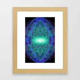 light matrix phone Framed Art Print