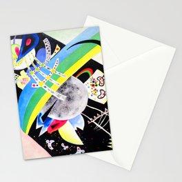 Wassily Kandinsky Circle on Black Stationery Cards