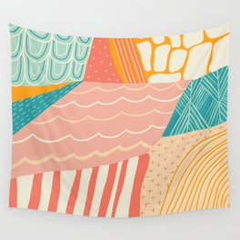 beach quilt Wall Tapestry