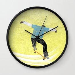Skateboard 3 Wall Clock