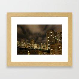 La Jolla Night Framed Art Print