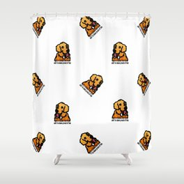 Proud Parent of Golden Retriever Boy - Pattern Version Shower Curtain