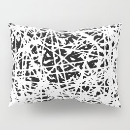 Whispers In the Dark - Black and White Abstract Pillow Sham
