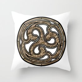 Bronze Medallion Throw Pillow