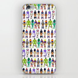 Superhero Butts - Power Couple on Violet iPhone Skin