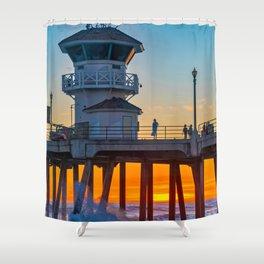 Sunset Splash Under Zero Shower Curtain