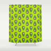 avocado Shower Curtains featuring Avocado by all2