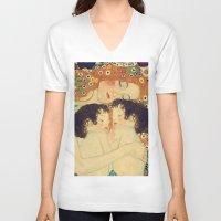 klimt V-neck T-shirts featuring Mi versión de Klimt by MW. [by Mathius Wilder]