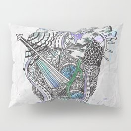 Davy Jone's Heart Pillow Sham