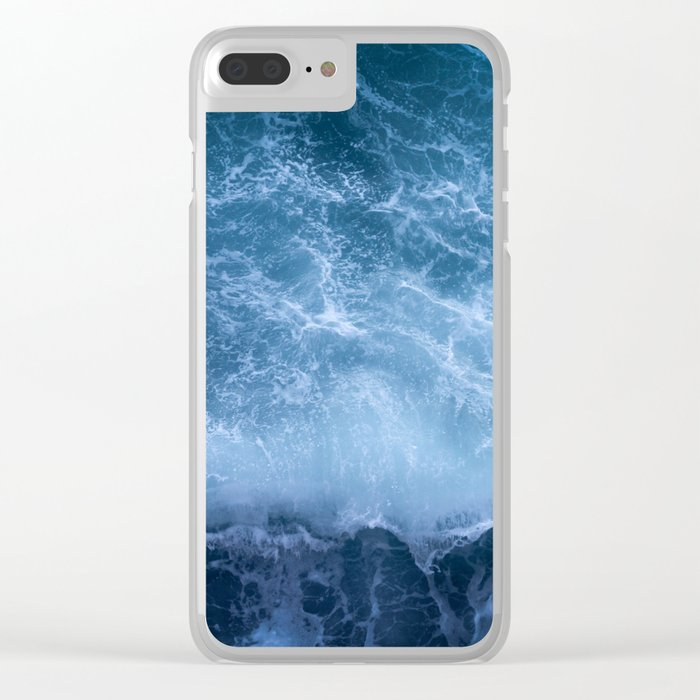 Waves from above Clear iPhone Case