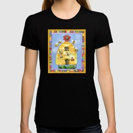 Busy Bees with Border T-shirt