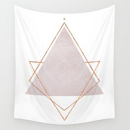 BLUSH COPPER ROSE GOLD GEOMETRIC SYNDROME Wall Tapestry