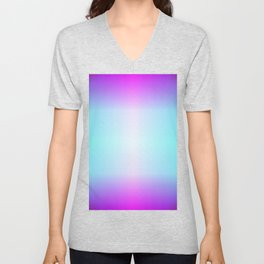 Five color blue, pink, purple, white, black ombre Unisex V-Neck