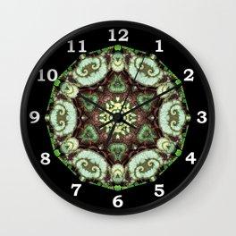 Begonia Escargot mandala 4 Wall Clock