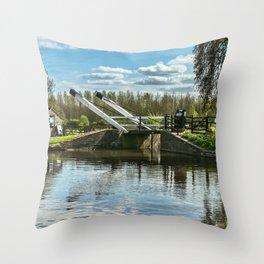 Bridge 221 On The Oxford Canal Throw Pillow