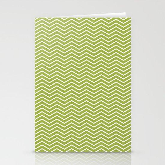 Green Chevron Stationery Cards