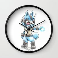 projectrocket Wall Clocks featuring Isn't he Ad-AURA-ble? by Randy C