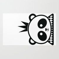 prince Area & Throw Rugs featuring Panda Prince by Inkroyable