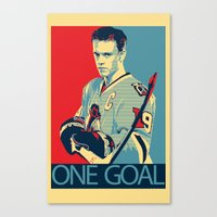 blackhawks Canvas Prints featuring Towes One Goal by Thousand Lines Ink
