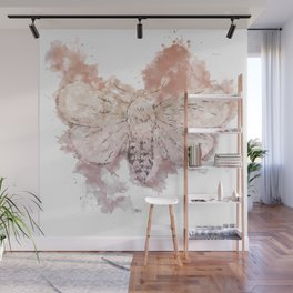 Moth Guided by Lunar Passion Wall Mural