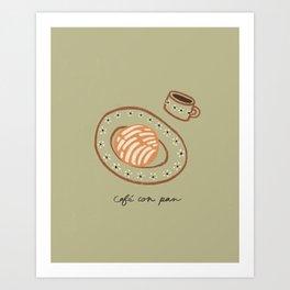Cafe Con Pan Breakfast Art Print