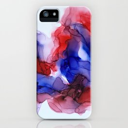Collision in Red and Blue iPhone Case