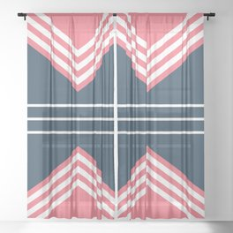 Nautical geometry 5 Sheer Curtain
