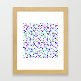 Polka Dot Party: Web of Bright Dots Framed Art Print