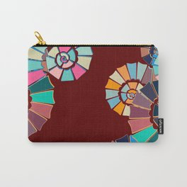 Spiral Symphony-Maroon Carry-All Pouch
