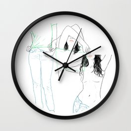 RED STRIP (combine series) Wall Clock