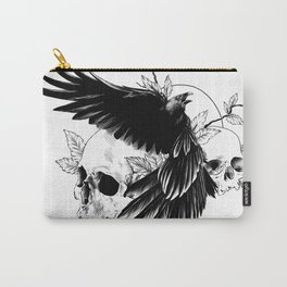 Bird and skulls Carry-All Pouch