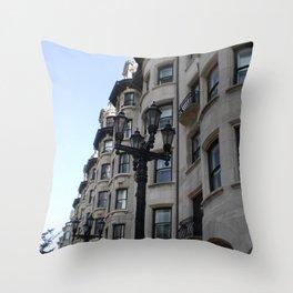 Rowhouses, Boston Throw Pillow