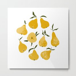 Yellow pear Metal Print