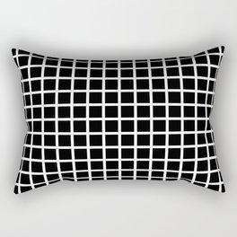 Grid (White & Black Pattern) Rectangular Pillow
