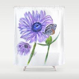 Erika Butterfly Three Shower Curtain