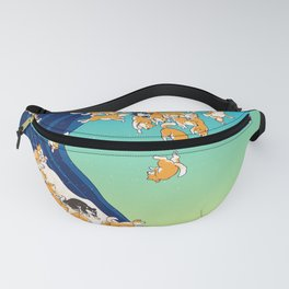 Shiba Inu in Great Wave Fanny Pack