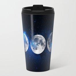 Phases of the Moon Blue Travel Mug